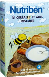 8 céréales miel biscuité 6 mois