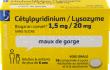 Cétylpyridinium Lysosyme maux de gorge