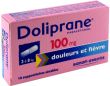 Doliprane 100 mg, suppositoire pediatrique