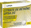 Citrate de betaine citron upsa 2 g sans sucre, comprimé effervescent édulcoré à la saccharine sodique