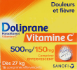 Doliprane vitaminec 500 mg/150 mg, comprimé effervescent
